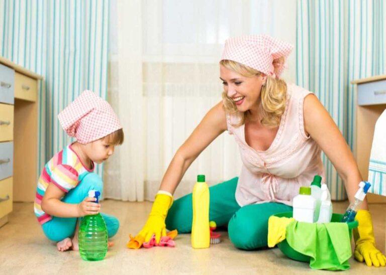 Como convertir la limpieza en un asunto familiar