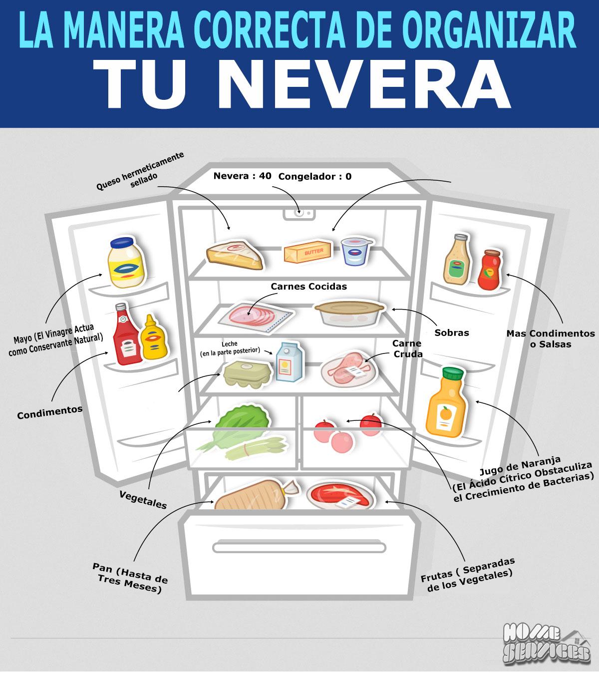 guia visual para organizar el refrigerador